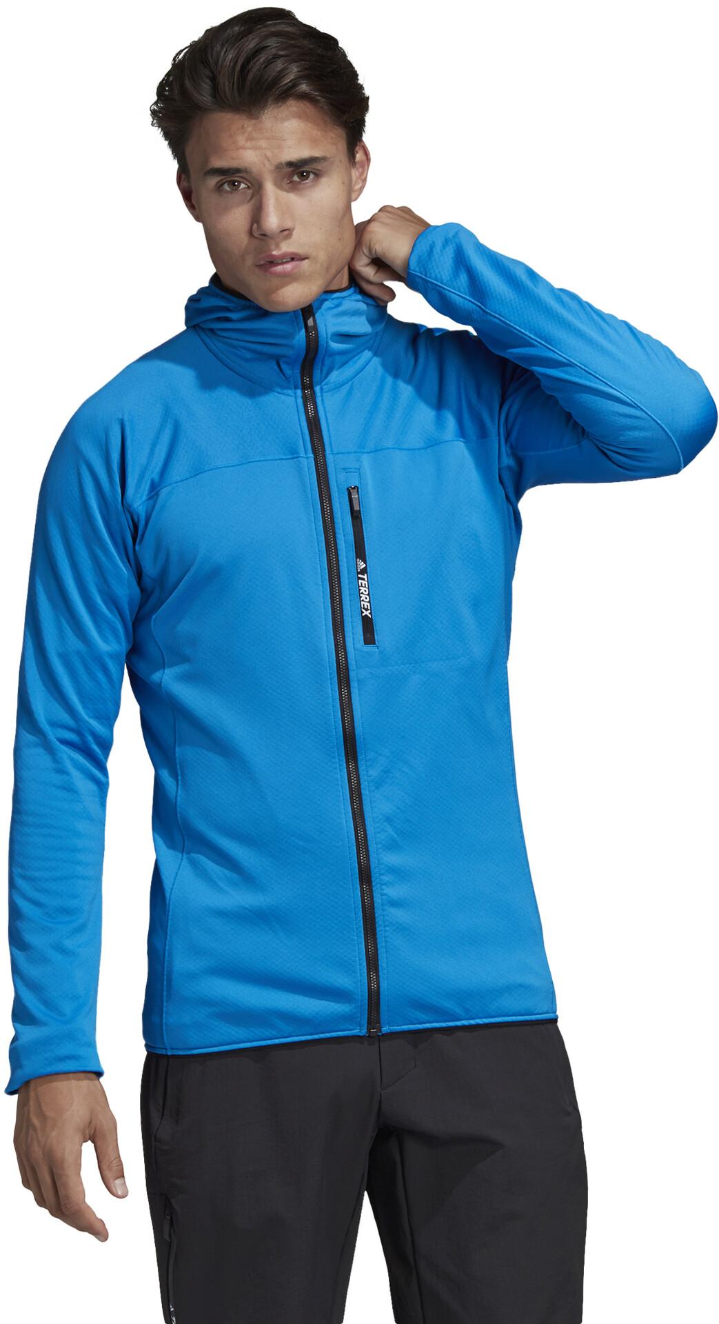 adidas TERREX TraceRocker Hooded Fleece Jacket Herren shoblu